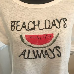 LC Lauren Conrad Tops - NWT LC Beach Days Always Watermelon Tee Size Large